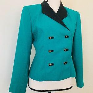 Green Kasper blazer jacket 6p!!